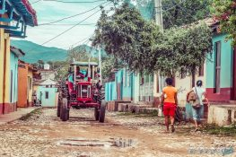 cuba trinidad streets tractor backpacker backpacking travel