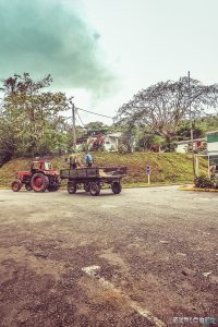 cuba vinales tractor backpacker backpacking travel