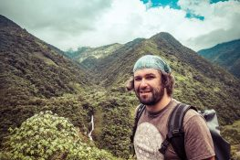 Ecuador Banos Canyon Waterfall Backpacking Backpacker Travel