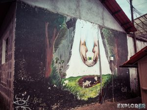 Ecuador Banos Mural Backpacking Backpacker Travel