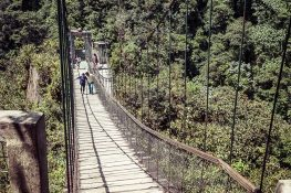 Ecuador Banos Pailon del Diablo Bridge Backpacking Backpacker Travel
