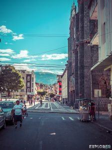 Ecuador Banos Street Backpacking backpacker Travel