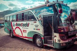 Ecuador Cotacachi Bus Backpacking Backpacker Travel