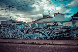 Ecuador Ibarra Graffiti Backpacker Backpacking Travel