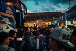 Ecuador Otavalo Bus Station Backpacker Backpacking Travel