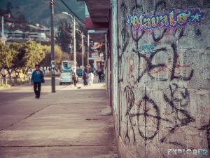 Ecuador Otavalo Graffiti Backpacking Backpacker Travel