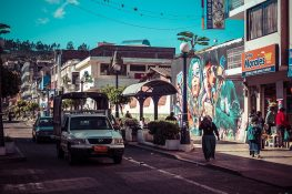Ecuador Otavalo Mural Tenaz Backpacker Backpacking Travel