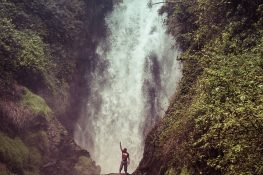 Ecuador Otavalo Peguche Waterfall Backpacker Backpacking Travel