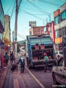Ecuador Otavalo Trash Truck Backpacking Backpacker Travel