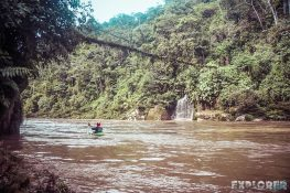 Ecuador Tena Jondachi River Rafting Bridge 2