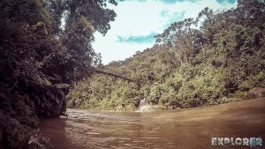Ecuador Tena Jondachi River Rafting Bridge