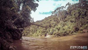 Ecuador Tena Jondachi River Rafting Bridge