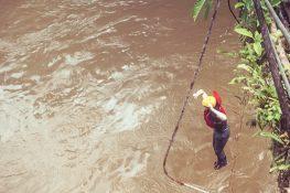 Ecuador Tena Jondachi River Rafting Bridge 4