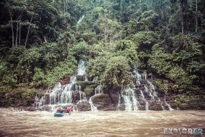 Ecuador Tena Jondachi River Rafting Waterfall