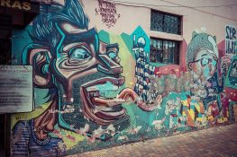 Equador Quito Parque Gral Julio Andrade Mural Apitatan Backpacking Backpacker Travel