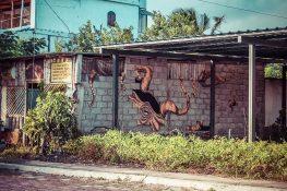 Galapagos San Cristobal Graffiti Backpacking Backpacker Travel