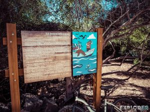Galapagos Santa Cruz Darwin Station Beach Sign Backpacking Backpacker Travel