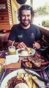 ecuador banos lunch backpacker backpacking travel
