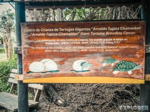 ecuador isabela galapagos centro de crianza turtle sign backpacker backpacking travel