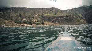ecuador quilotoa lake kayak backpacker backpacking travel