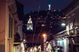 ecuador quito Virgen del Panecillo backpacker backpacking travel