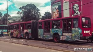 ecuador quito graffiti bus backpacker backpacking travel