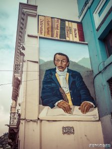 ecuador quito mural backpacker backpacking travel