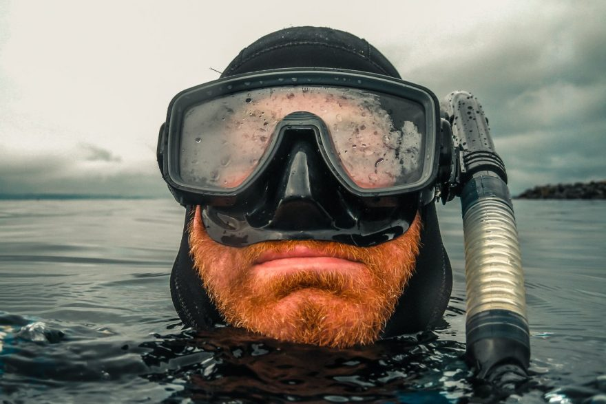 Scuba Diving Foggy Mask Beard Backpacking Backpacker Travel