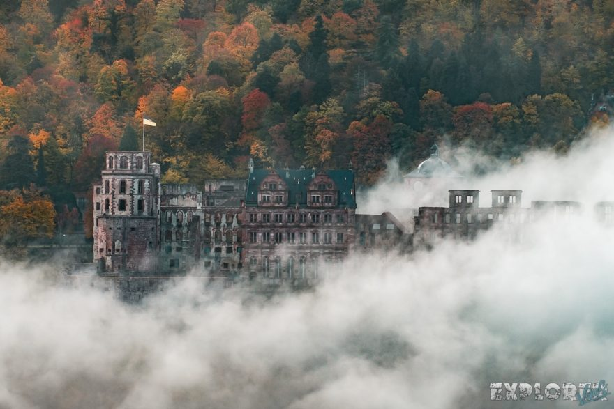 Germany Heidelberg Castle Fog Autum ExplorerVibes Backpacker Backpacking Travel