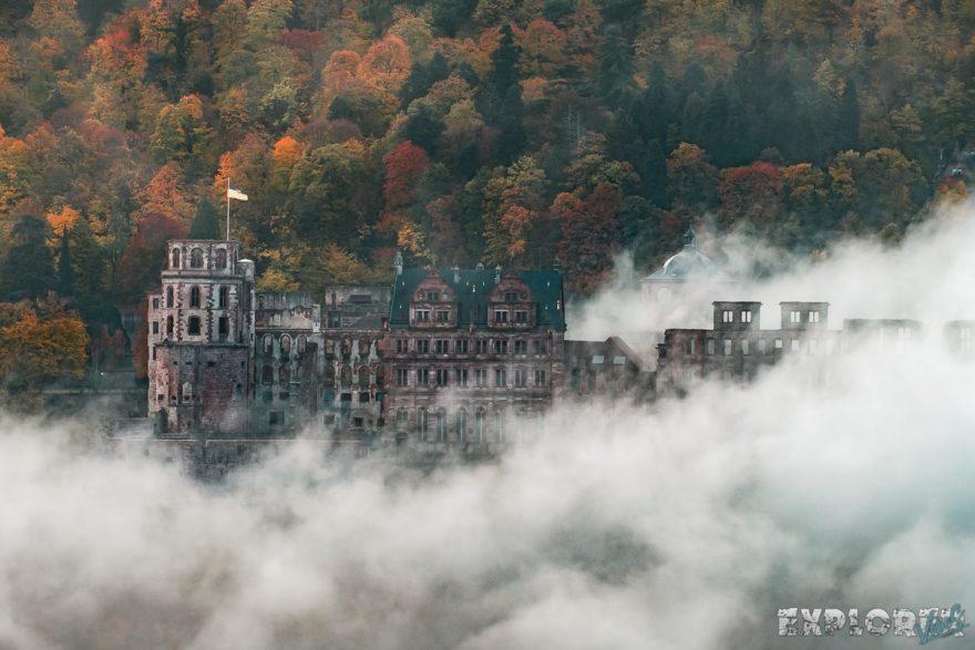 Germany Heidelberg Castle Fog Autum ExplorerVibes Backpacker Backpacking Travel