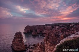 portugal algarve Praia da Marinha Beach Sunset backpacking backpacker travel 2